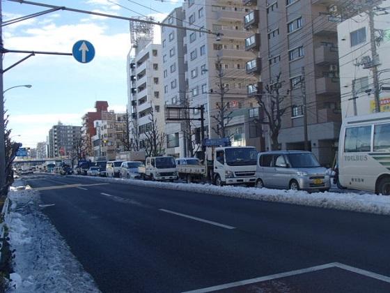 雪渋滞 (2)