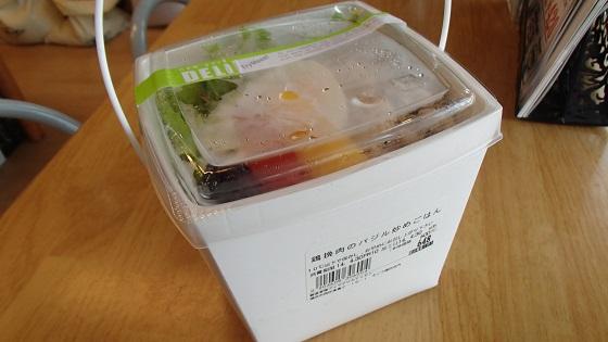 鶏バジルご飯 (2)