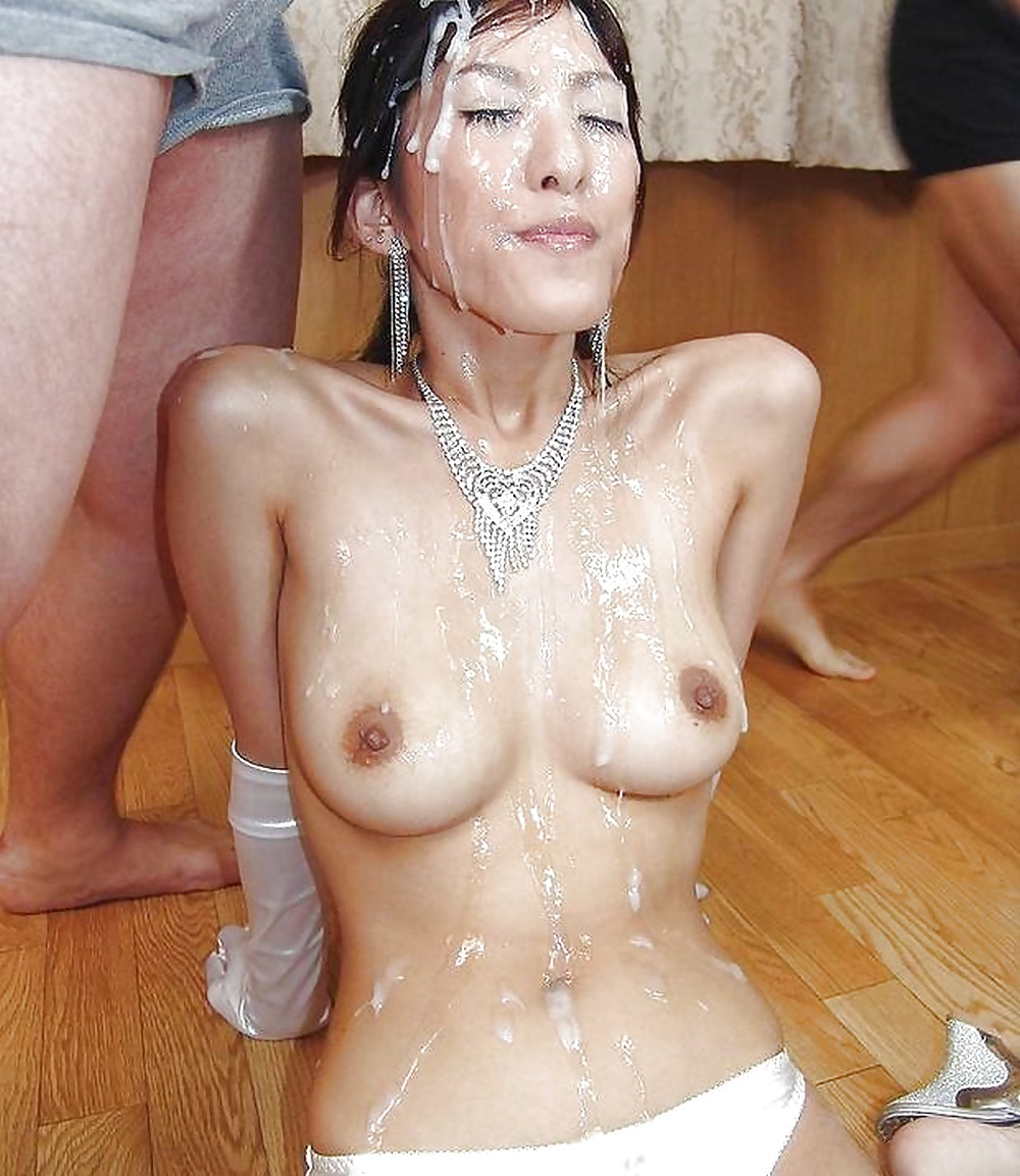Magnificent big tits bukkake drenched apologise