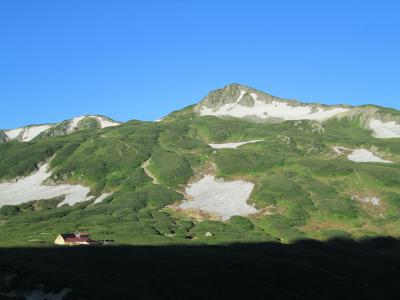 三俣山荘と蓮華岳