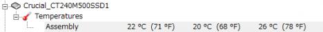 M500 ベンチ5回連続後の温度s