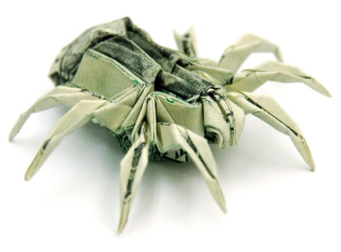 折り紙_蜘蛛ドル札