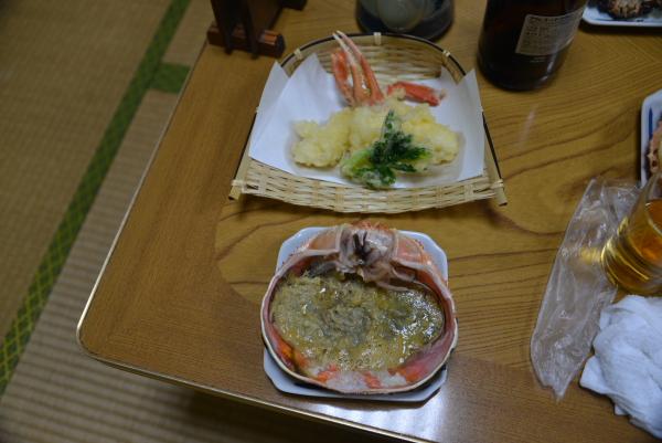 カニ天ぷらとカニみそ