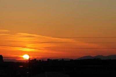 カラスと夕日 (2)