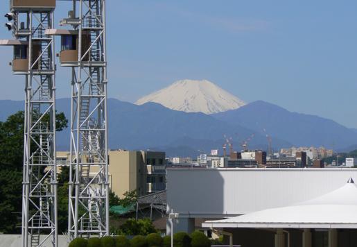 府中競馬場からの富士山