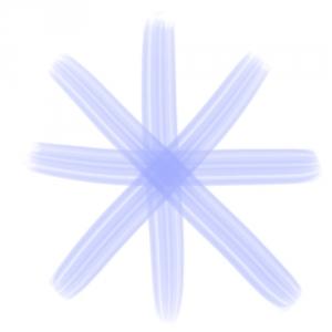 油彩平筆の線2