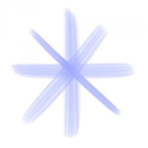 油彩平筆の線1
