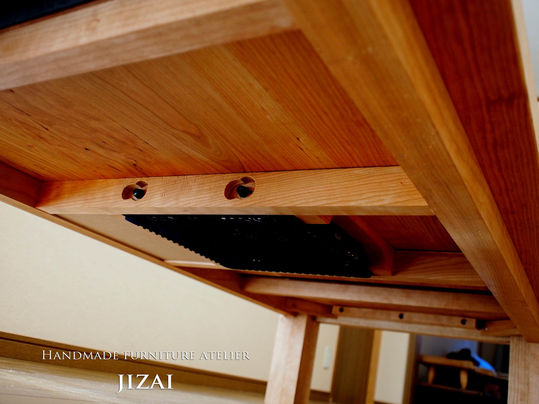 那須高原 じざい工房 小林康文の素材を活かす家具づくり  無垢材コタツ