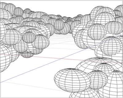 雲背景ワイヤーフレーム