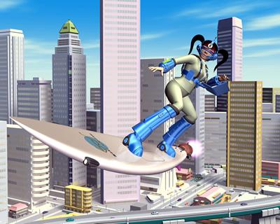 3DキャラOLのサーフィン1