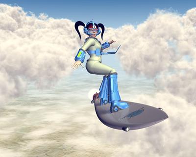 3DキャラOLのサーフィン2
