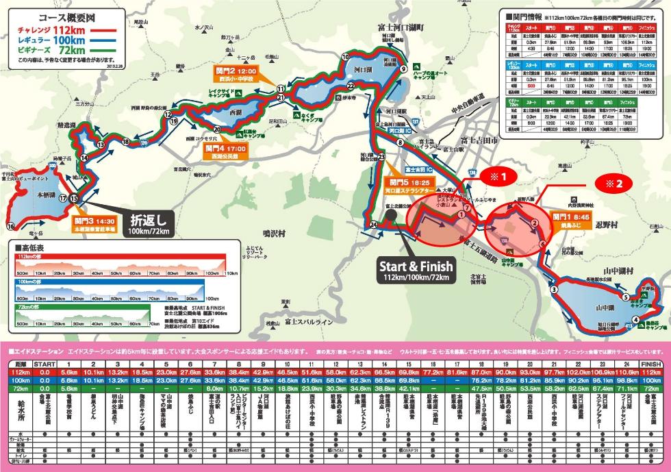 チャレ富士コースマップ