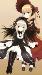 266272 dress gothic_lolita lolita_fashion rozen_maiden shinku suigintou ueda_kazuyuki
