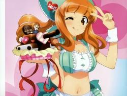 282998 cleavage girls_und_panzer nishizumi_miho sadakata_kikuko takebe_saori thighhighs valentine waitress43_