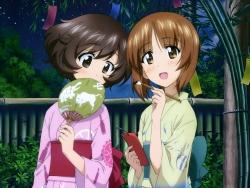 290645 akiyama_yukari girls_und_panzer nishizumi_miho yukata43_