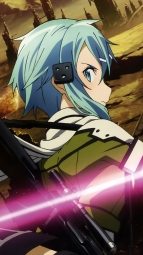 284866 gun kirito nishiguchi_tomoya shino_asada sword sword_art_onlinei_