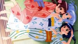 169_291629 fukagawa_kazumi gochuumon_wa_usagi_desu_ka_ joukawa_maya kafuu_chino natsu_megumi yukata