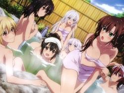294223 aiba_asagi akatsuki_nagisa cleavage himeragi_yukina kanase_kanon kirasaka_sayaka naked onsen strike_the_blood towel wet yuuma_tokoyogi43_