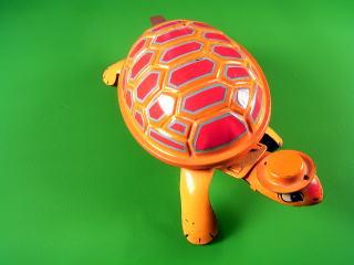 オレンジ帽 ブリキ玩具