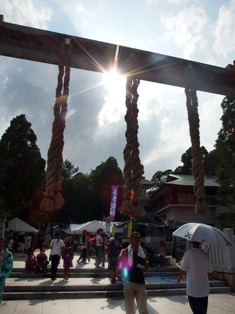 廣田神社 鳥居と太陽