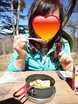 百蔵山お食事タイム