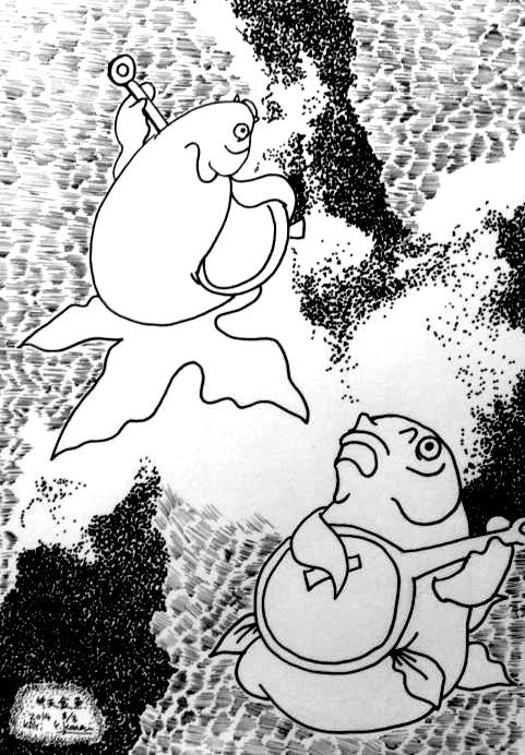 弁天金魚原画1
