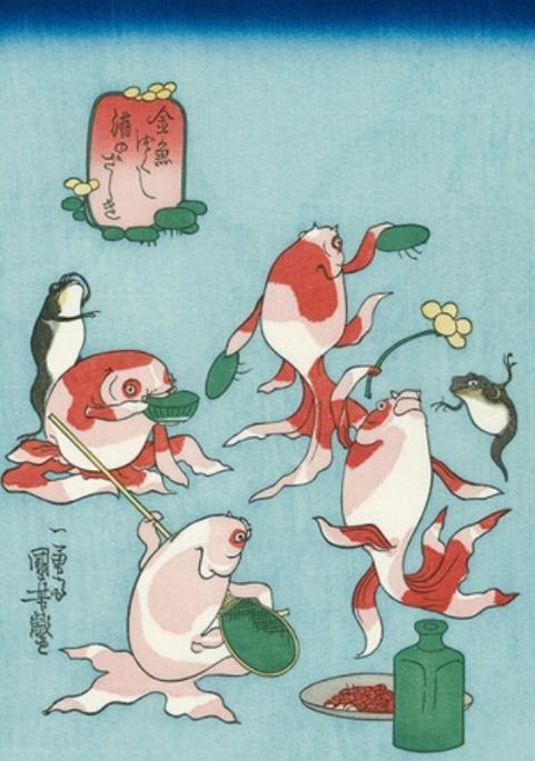 弁天金魚原画3