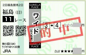 2014 ラジオNIKKEI賞 ワイド