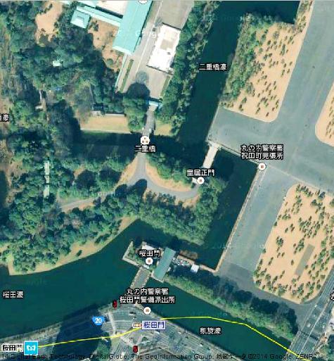 日本東京都東京駅 - Google マップ二重橋0001