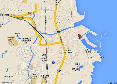日本千葉県 大原漁港 - Google マップ-40001-2