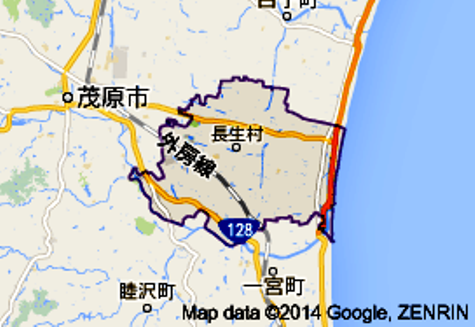 長生村の地図