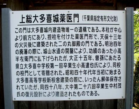 画像ー243大多喜城と薬医門 063-2