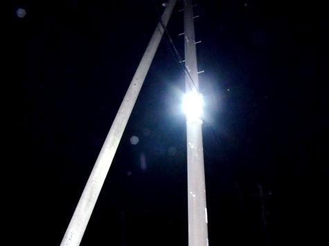 画像ー247 ハエ取り紙と湿度の低い時の夜景 020-2