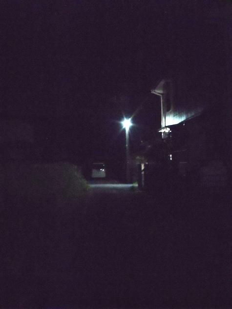 画像ー247 ハエ取り紙と湿度の低い時の夜景 021-2
