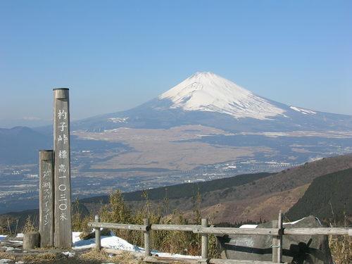 杓子峠からの富士山