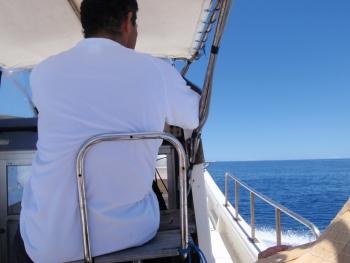 水納島へ向かう