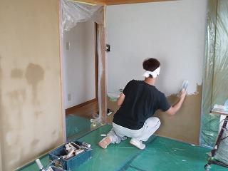 島田邸和室左官クロス下地 (3)