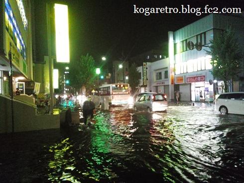 古河市の豪雨