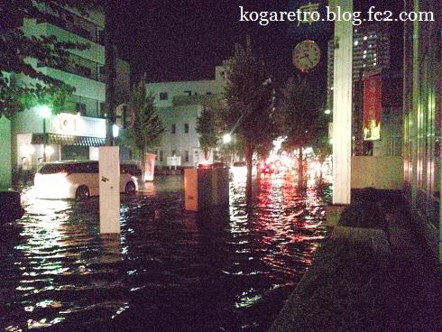 古河市の豪雨2