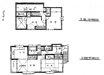 Kハイツ2,3階部分間取り図_R