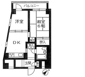 三田スカイハイツ301号間取り図_R