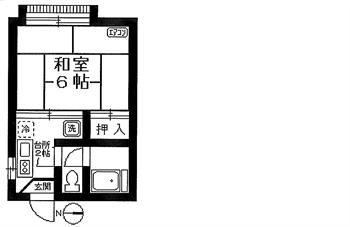 リトルハイム201号間取り図1_R