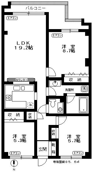 ブロンズストーン宇田川203