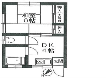 渡辺荘201号間取り図_R