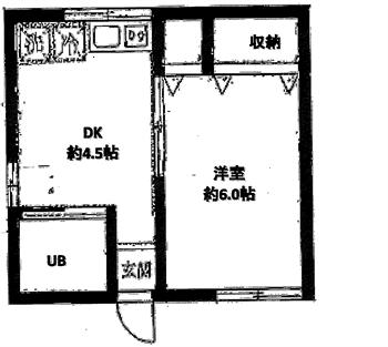 コスモコーポ101号間取り図_R