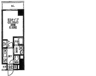 バレーヌ大森山王304号間取り図_R