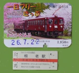 わたらせ渓谷鐵道トロッコの旅2014-09
