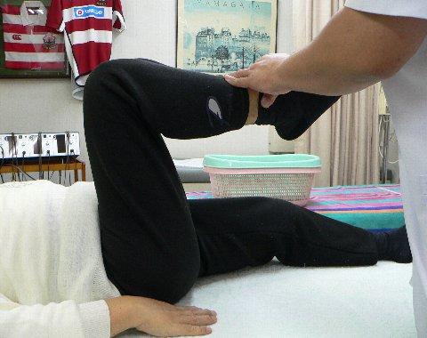 柴田様の屈曲出来ない膝