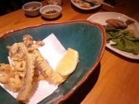 りん:山菜の天ぷらと合鴨ロース