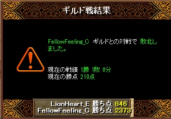 2月22日 ライオンGv VS FellowFeeling_C様